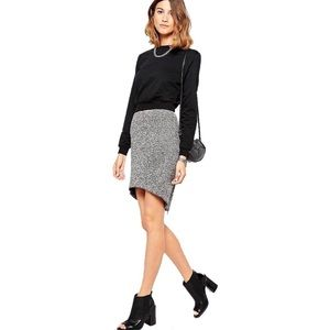 Finders Keepers Hi-low Gray Wildfire Skirt